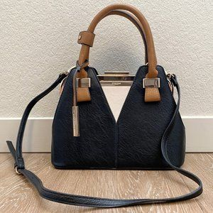 Dune London Black/Brown Leather Handbag Purse
